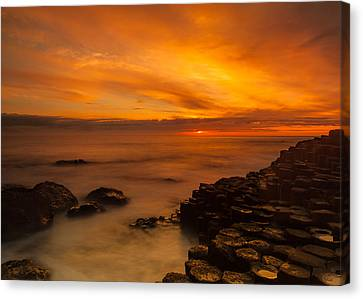 Giants Causeway Sunset Canvas Print by Craig Brown