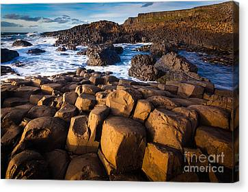 Giant's Causeway Surf Canvas Print by Inge Johnsson