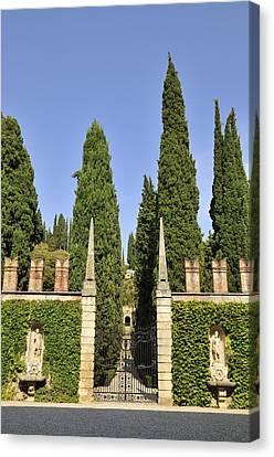 Giardino Giusti Gardens In Verona Italy Canvas Print by Matthias Hauser