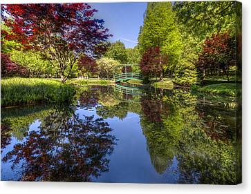 Gibbs Garden Canvas Print by Debra and Dave Vanderlaan
