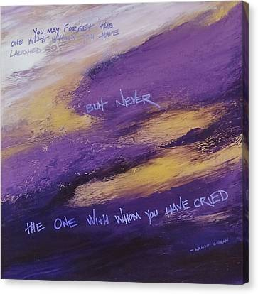 Gibran's But Never Poem Canvas Print by Ginny Gaura