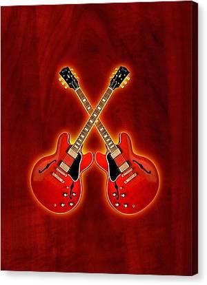 Gibson Es 335 Canvas Print by Doron Mafdoos
