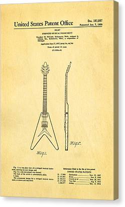 Gibson Flying V Guitar Patent Art 1958 Canvas Print