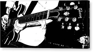 Gibson Guitar Graphic Canvas Print