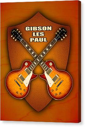 Gibson Les Paul Standart  Shield Canvas Print by Doron Mafdoos