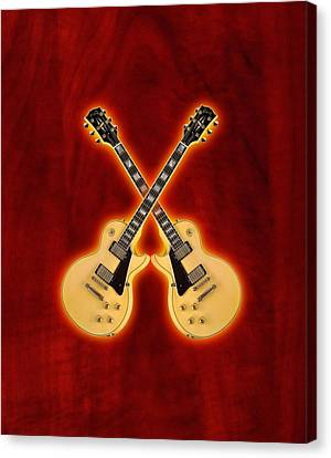 Gibson Randy Rhoads Les Paul Custom Canvas Print by Doron Mafdoos