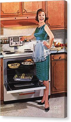 Gibson Ultra 600 1950s Usa Cooking Canvas Print by The Advertising Archives