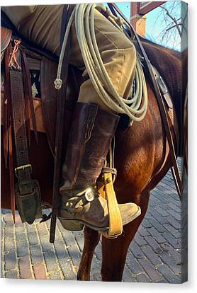 Canvas Print featuring the photograph Giddyup by Dee Dee  Whittle