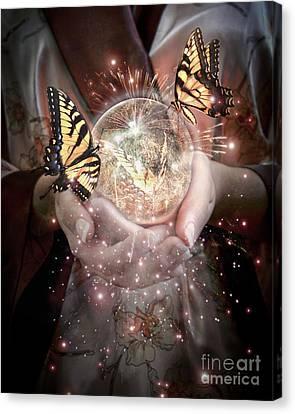 Fantasy- Gift Of Magic Canvas Print by Feryal Faye Berber