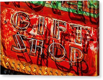 Canvas Print featuring the photograph Gift Shop Sign by Daniel Woodrum