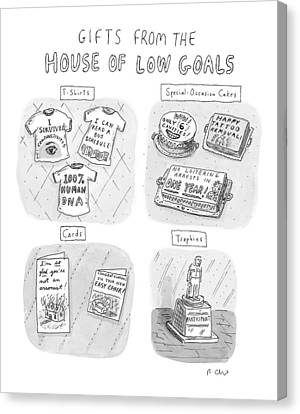 Gifts From The House Of Low Goals Canvas Print by Roz Chast