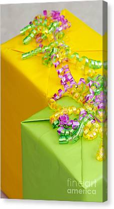 Wrapped Canvas Print - Gifts With Ribbon by Amy Cicconi