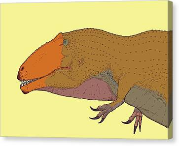 Giganotosaurus Dinosaur Canvas Print by Nemo Ramjet