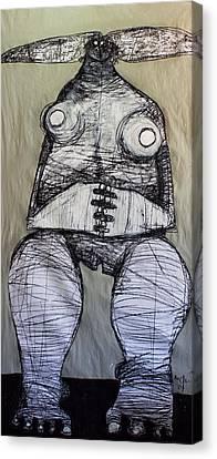 Primitive Nude Canvas Print - Gigantes No. 14  by Mark M  Mellon