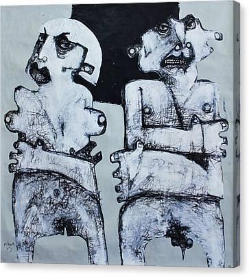 Primitive Nude Canvas Print - Gigantes No. 4 by Mark M  Mellon