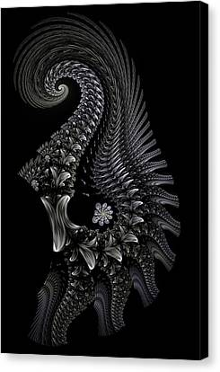 Canvas Print featuring the digital art Gigeresque II by Lea Wiggins