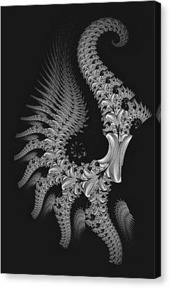 Canvas Print featuring the digital art Gigeresque by Lea Wiggins