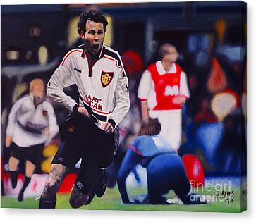 Giggs Goal V Arsenal Oil On Canvas Canvas Print