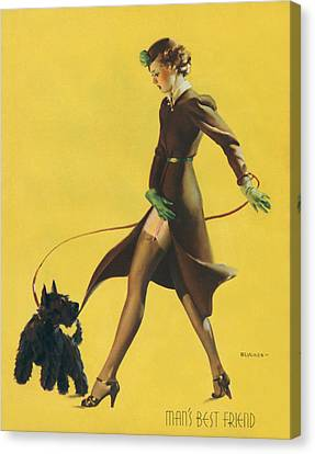 Gil Elvgren's Pin-up Girl Canvas Print by Underwood Archives
