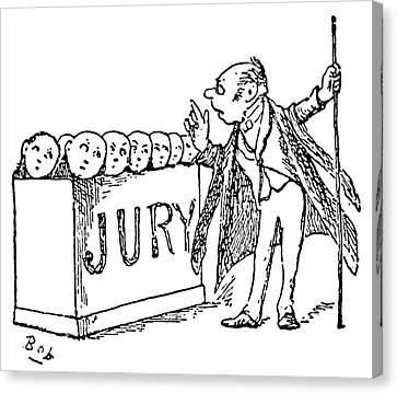 Gilbert & Sullivan Trial Canvas Print by Granger