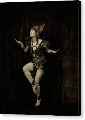 Gilda Gray In Character As A Javanese Dancer Canvas Print