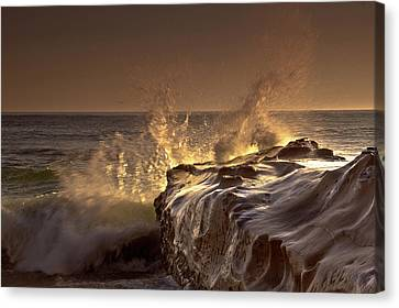 Gilded Eruption Canvas Print by Ryan Weddle