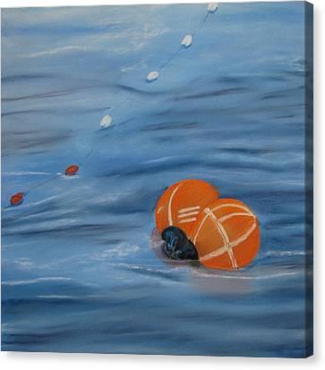 Gill Net Floats Canvas Print by Pamela Heward