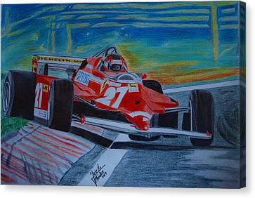 Gilles Villeneuve Canvas Print by Jose Mendez