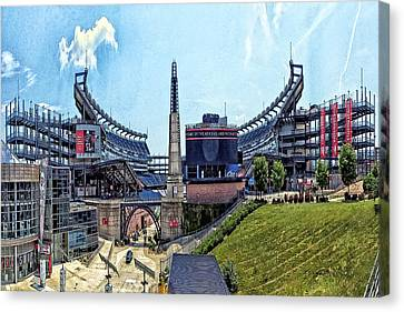 Gillette Stadium  Home Of The New England Patriots Canvas Print