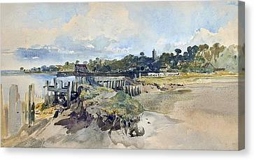 Gillingham Kent From The Medway Canvas Print by William James Muller