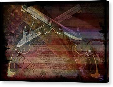 Gimme Back My Bullets Canvas Print by Absinthe Art By Michelle LeAnn Scott
