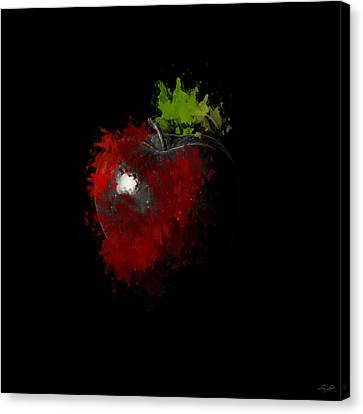 Green Apples Canvas Print - Gimme That Apple by Lourry Legarde