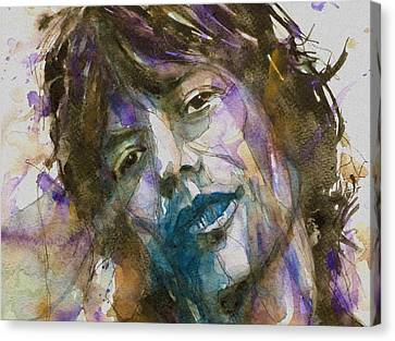 Rolling Stones Canvas Print - Gimmie Shelter by Paul Lovering