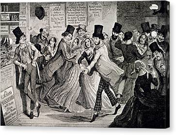 Gin-shop To Dancing-room Canvas Print by British Library