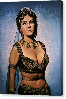 Gina Lollobrigida Painting Canvas Print by Paul Meijering