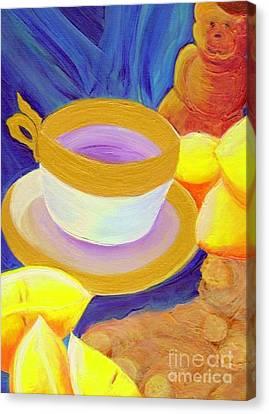 Ginger Lemon Tea By Jrr Canvas Print by First Star Art