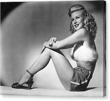 Heartbeat Canvas Print - Ginger Rogers In Heartbeat  by Silver Screen