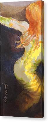 Ginger Serpentine Canvas Print by Del Gaizo
