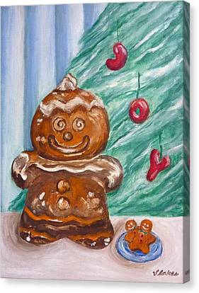 Gingerbread Cookies Canvas Print by Victoria Lakes