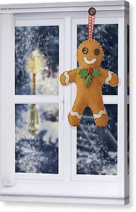 Gingerbread Man Decoration Canvas Print by Amanda Elwell