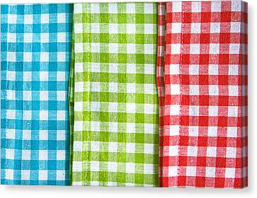 Gingham Canvas Print by Tom Gowanlock