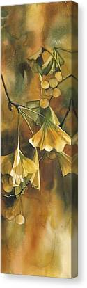 Gingko In Autumn Canvas Print