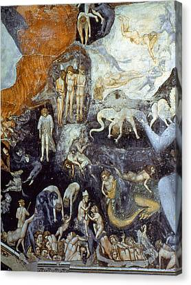Giotto Detail Of Hell Canvas Print by Granger