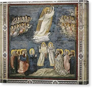 Giotto Di Bondone 1267-1337. Scenes Canvas Print by Everett