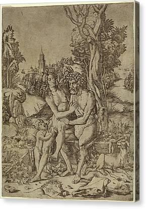 Giovanni Battista Palumba, Faun Family, Italian Canvas Print by Quint Lox