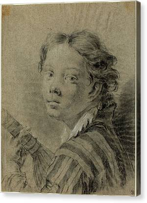 Giovanni Battista Piazzetta 1683-1754, A Boy With A Lute Canvas Print by Litz Collection