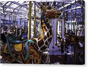 Giraffe Carousel Ride Canvas Print
