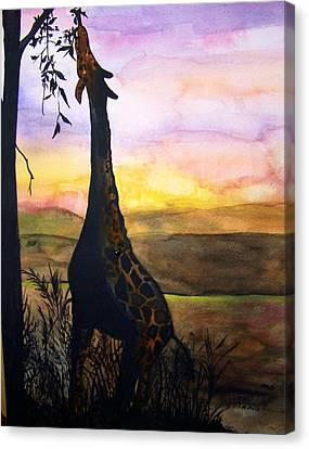 Giraffe Canvas Print by Laneea Tolley