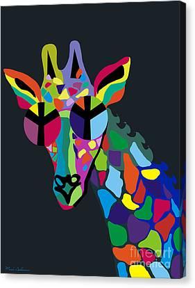 Giraffe Abstract Canvas Print - Giraffe by Mark Ashkenazi