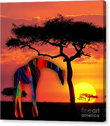 Giraffe Canvas Print by Marvin Blaine